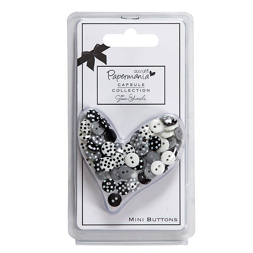 Papermania - Mini Buttons - Polka: Bexley Black - PMA354023