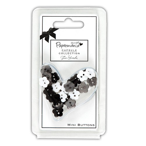 Papermania - Mini Buttons - Daisy: Bexley Black - PMA354223