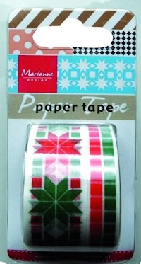 Marianne Design - Paper tape - Christmas red/green - PT2308