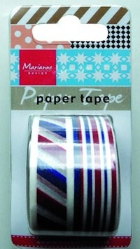 Marianne Design - Paper tape - Red, white, blue - PT2313