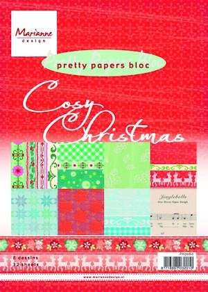 Marianne Design - Paperpack - Pretty Papers - Cosy Christmas - PK9086