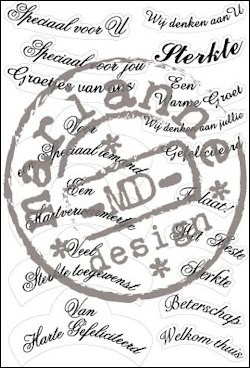 Marianne Design - Clearstamp - Goede wensteksten - CS0855