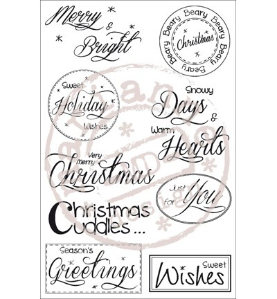 Marianne Design - Stampfairy Design - Clearstamp - Christmas sentiments - SF1118