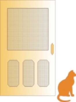 Cheery Lynn Design - Die - Screen door with cat - A2 164