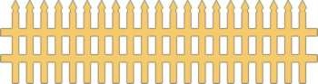 Cheery Lynn Design - Die - Victorian Picket Fence - B123