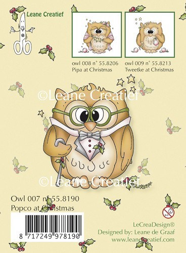 Leane Creatief - Clearstamp - Popco at Christmas - 55.8190