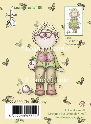 Leane Creatief - Clearstamp - Christmas boy - 55.8220