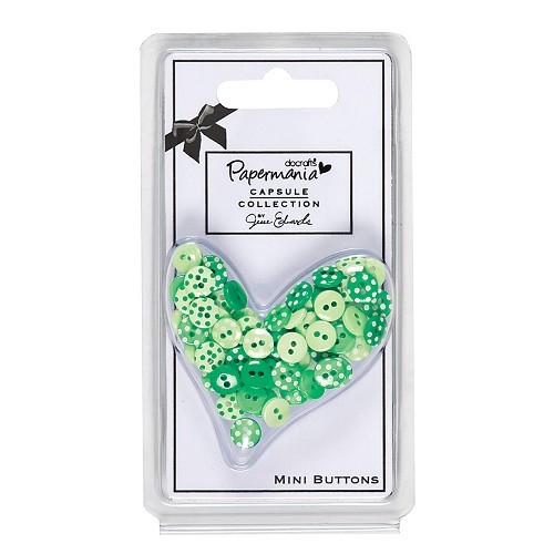 Papermania - Mini Buttons - Polka: Chelsea Green - PMA354024