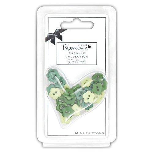 Papermania - Mini Buttons - Daisy: Chelsea Green - PMA354224