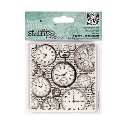Papermania - Cling stamp - Beautiful - Time Pieces - PMA907138