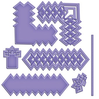 Spellbinders - Die - Shapeabilities - Diamonds Strips and Accents
