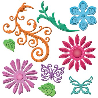Spellbinders - Die - Shapeabilities - Jewel Flowers and Flourishes
