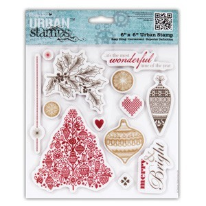 Papermania - Cling stamp - Home for Christmas - Baubles - PMA907156