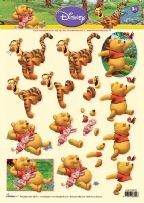 Studio Light - Disney - 3D-knipvel A4 - Pooh - STAPPOOH31