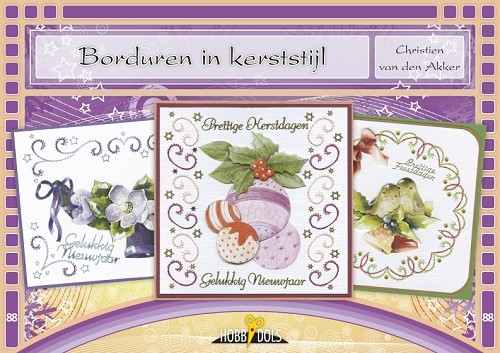 Card Deco - Hobbydols - No. 88 - Borduren in kerststijl