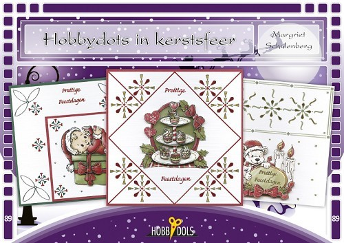 Card Deco - Hobbydols - No. 89 - Hobbydots in kerstsfeer