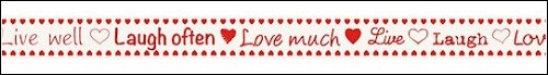 Marianne Design - Ribbon - Tekst - Live, laugh, love - JU0877