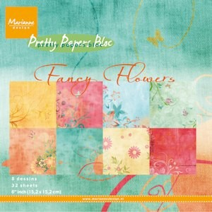 Marianne Design - Paperpack - Pretty Papers - Fancy Flowers - PK9088