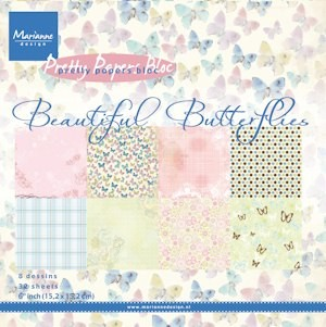Marianne Design - Paperpack - Pretty Papers - Beautiful Butterflies - PK9089