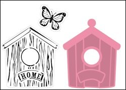 Marianne Design - Die - Collectables - Birdhouse home - COL1309