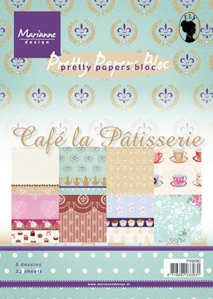 Marianne Design - Paperpack - Pretty Papers - Caf La Patisserie - PK9090