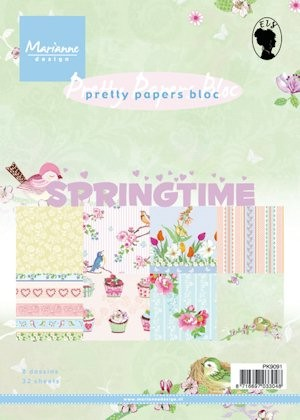 Marianne Design - Paperpack - Pretty Papers - Spring time - PK9091