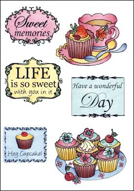 Marianne Design - Els Wezenbeek - Clearstamp - Tea and cupcakes - EWS2206