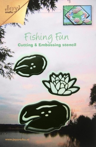 Joy! crafts - Die - Fishing  Fun - Lotusbloem en bladeren