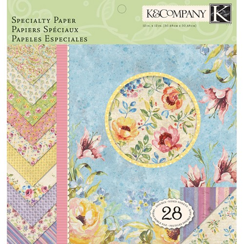 K&Company - Paperpack - Watercolor Bouquet - 30-619852