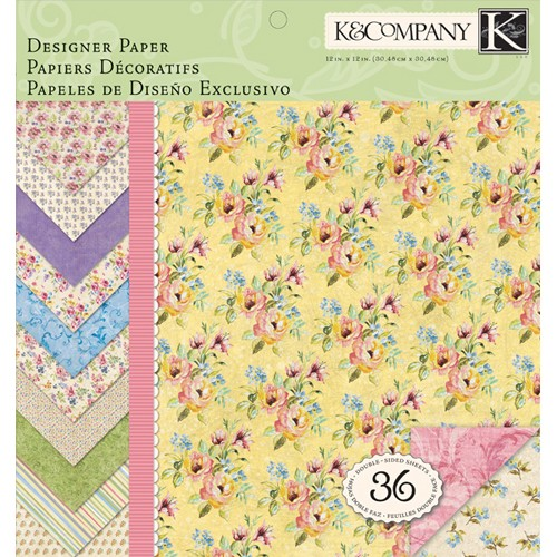 K&Company - Paperpack - Watercolor Bouquet - 30-619869