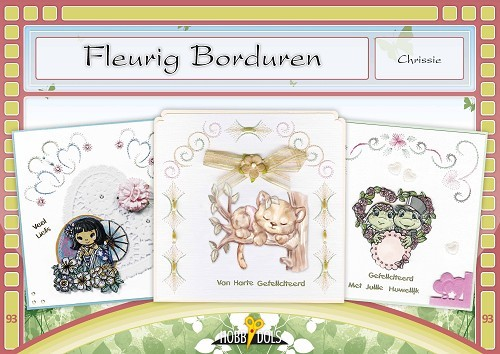 Card Deco - Hobbydols - No. 93 - Fleurig borduren