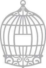 Cheery Lynn Design - Die - Bird cage - B198