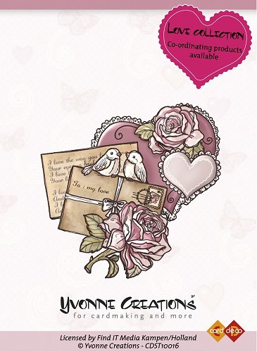 Yvonne Creations - Clearstamp - Love Collection - Heart - CDST10016