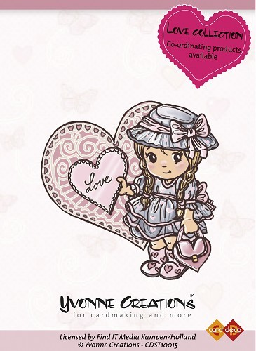 Yvonne Creations - Clearstamp - Love Collection - Girl - CDST10015