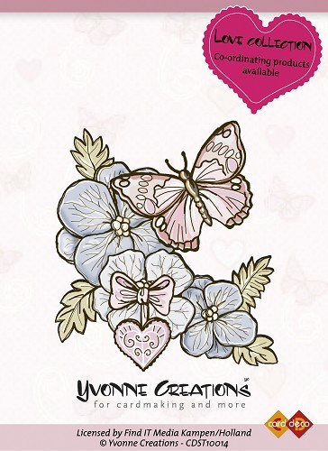 Yvonne Creations - Clearstamp - Love Collection - Butterfly - CDST10014