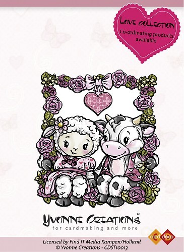 Yvonne Creations - Clearstamp - Love Collection - Happy Couple - CDST10013