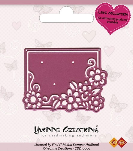 Card Deco - Yvonne Creations - Die - Love Collection - Valentine Flowerframe