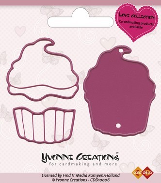 Yvonne Creations - Die - Love Collection - Valentine Cupcake