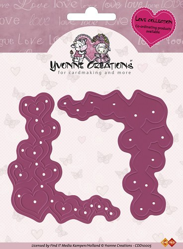 Card Deco - Yvonne Creations - Die - Love Collection - Valentine Corners