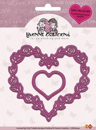 Card Deco - Yvonne Creations - Die - Love Collection - Valentine Hearts