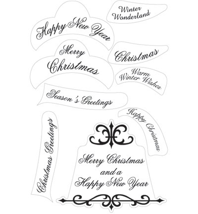 Marianne Design - Clearstamp - Kerstteksten engels - CS0862