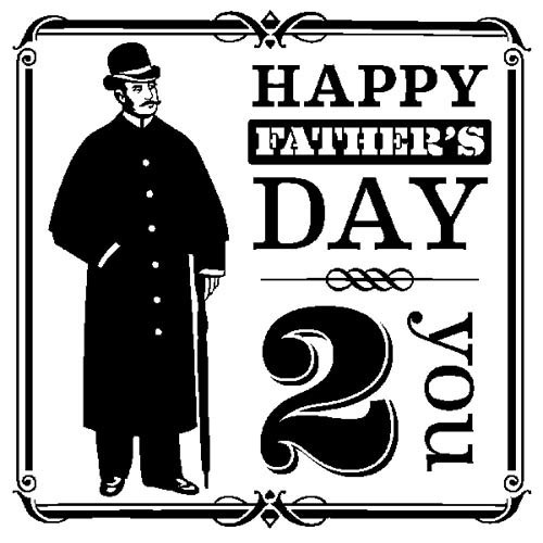 Inkadinkado - Clearstamp - Happy Father`s Day - 60-30452