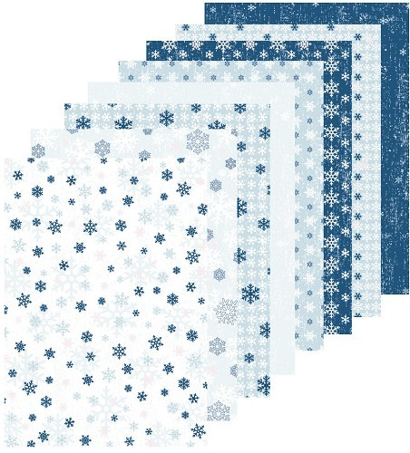 Leane Creatief - Paperpack - Winter Design - Snow - 51.8398
