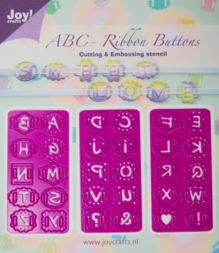 Joy! crafts - Die - ABC Ribbon Buttons
