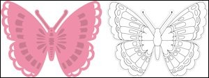 Marianne Design - Die - Collectables - Tiny`s butterfly 1 - COL1317