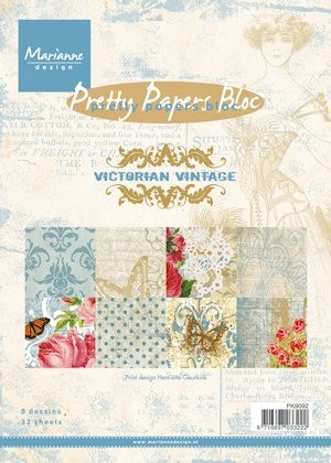 Marianne Design - Paperpack - Pretty Papers - Victorian Vintage - PK9092