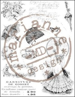 Marianne Design - Clearstamp - Victorian Ladies 2 - CS0864