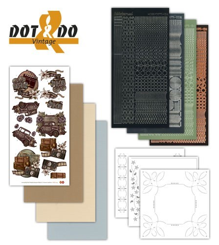 Card Deco - Kaartenpakketten - Dot & Do - No. 09 - Vintage - DODO009
