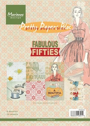 Marianne Design - Paperpack - Pretty Papers - Fabulous Fifties