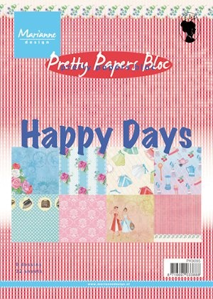 Marianne Design - Paperpack - Pretty Papers - Happy Days - PK9095